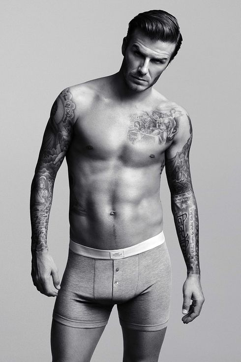 English Soccer Player David Beckham | A Totally Scientific Ranking Of 24 Male Athletes Turned Underwear Models