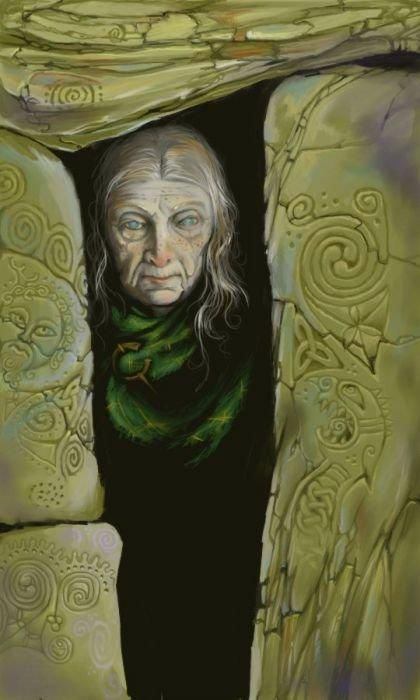 Woman with a Celtic Stone by ~ickessler on deviantART