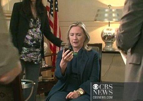 WOW.... Huma Abedin informing Hillary of Gaddafi's death on October 20, 2011.