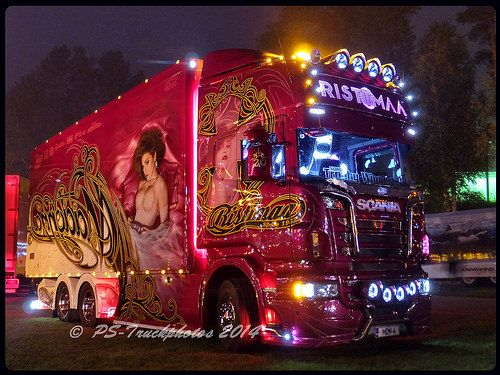 """2015 Scania R560 """"Madonna of Ristimaa"""" Airbrush Show Truck - Finland"""
