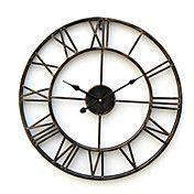 "20 ""reloj de pared de metal de estilo rústico – USD $ 39.99"