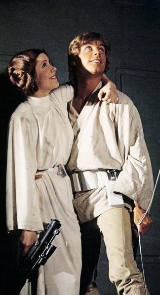 Star Wars behind the scenes - Princess Leia & Luke Skywalker