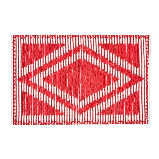 Diamond in the Rug (Red)  | The Land of Nod