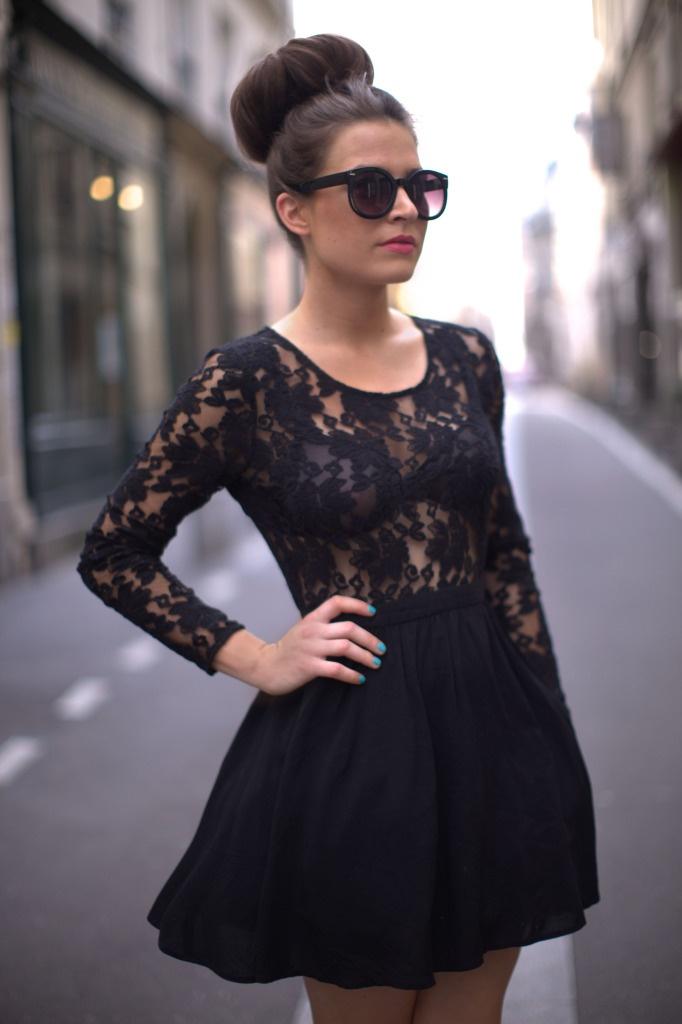 lovee itt #lace #black #dress: Lace Tops, Fashion Dresses, Baby Dolls, Fashion Inspiration, Chic Lace, Little Black Dresses, Black Lace Dresses, The Dresses, Black Lace Long Sleeve Tops