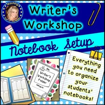 *Classroom Poster Set Included* This packet contains everything you need to set up your students' writing notebooks to ensure a successful year implementing Writer's Workshop in your classroom!