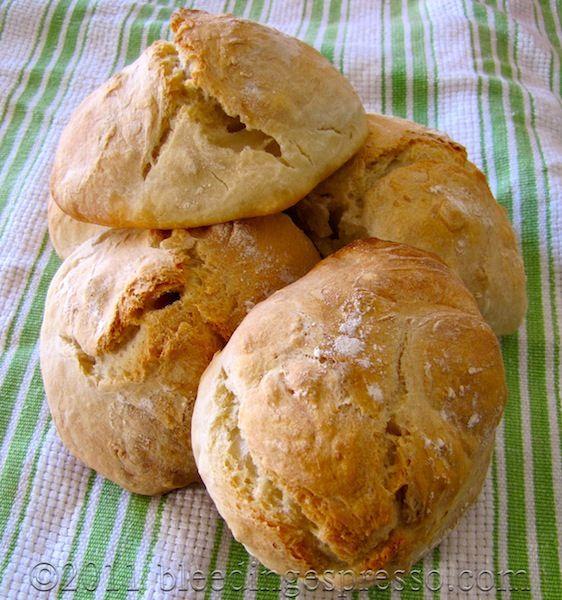 No-knead bread rolls