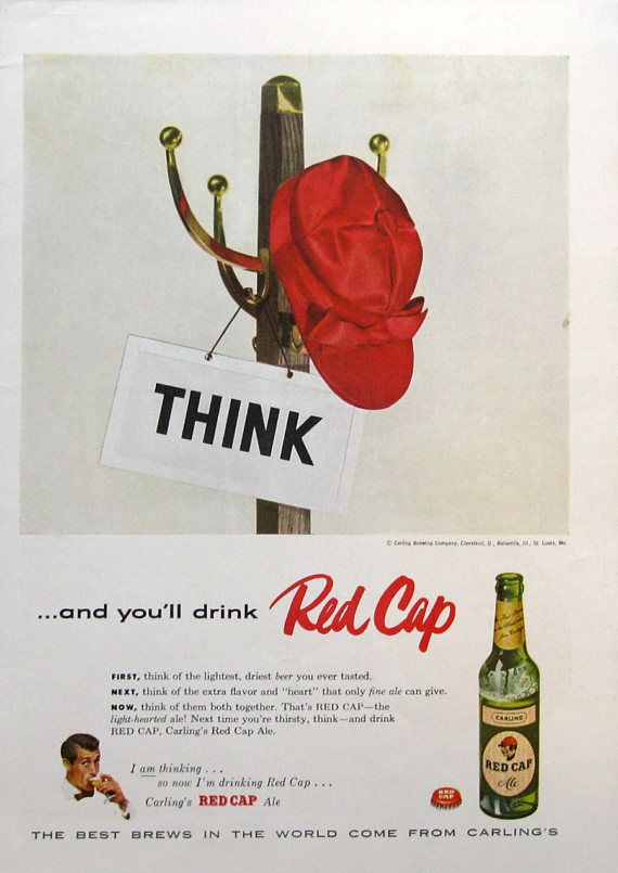 1955 Carling's Red Cap Ale Ad | #RetroReveries