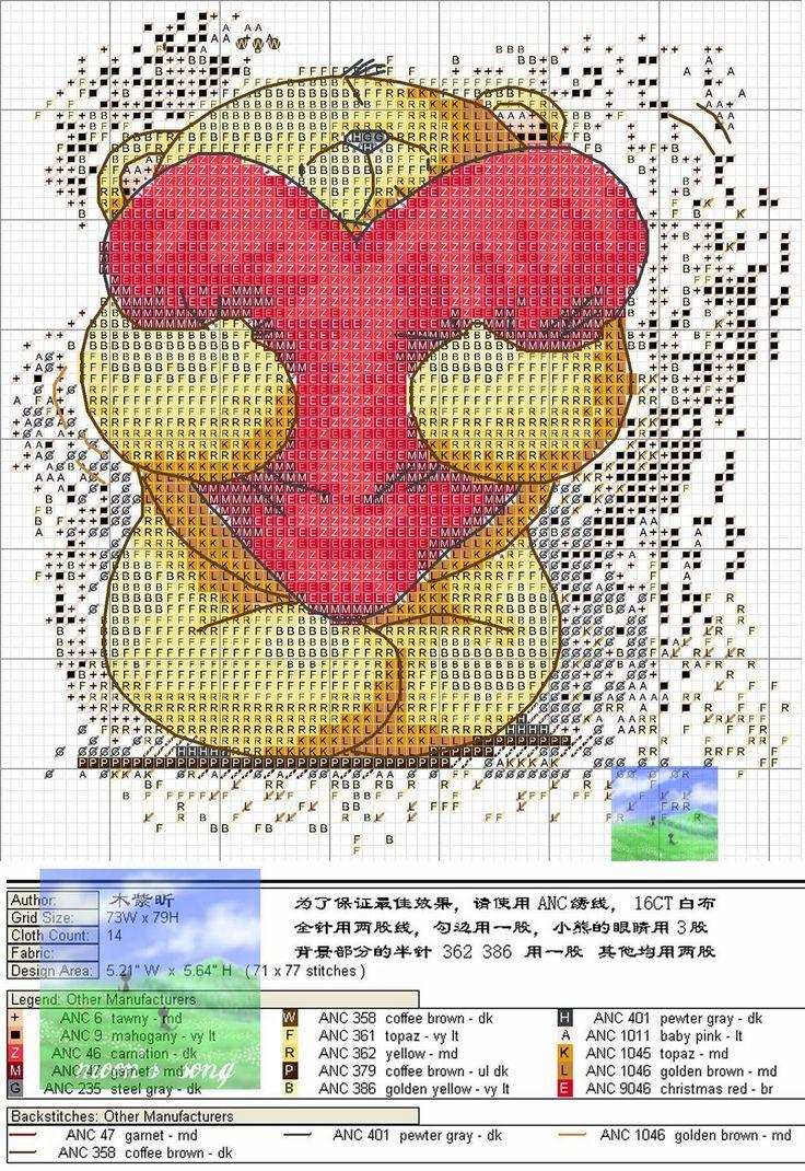 cross stitch teddy bear pattern