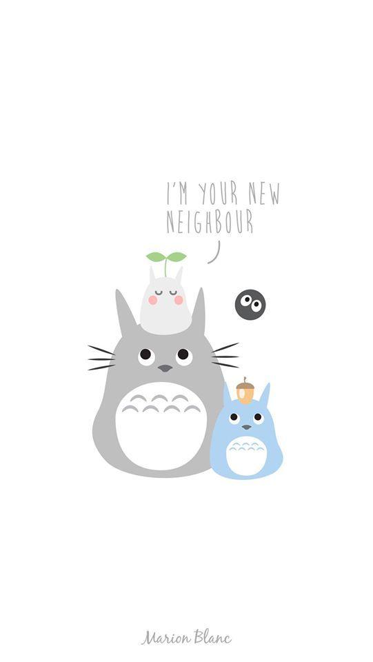 Totoro illustration Marion blanc