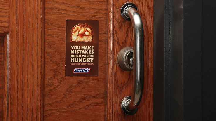 Brilliantly placed Snickers ads highlight #fails around town.