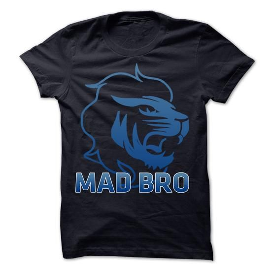 Mad Bro Lion Blue T-Shirts, Hoodies, Sweatshirts, Tee Shirts (20$ ==► Shopping Now!)