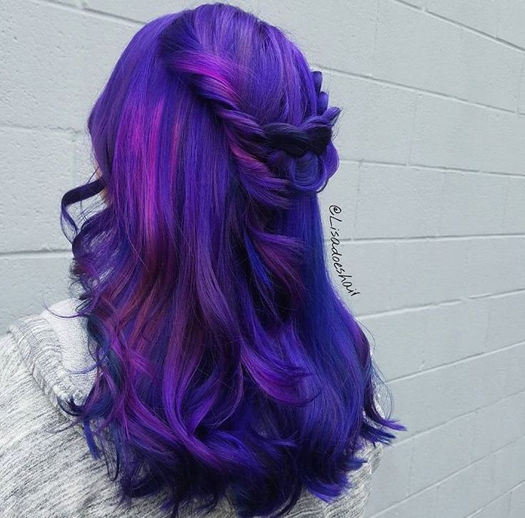 63 Purple Hair Color Ideas To Swoon Over Violet Purple Hair Dye Tips: Purple Hair By @Lisadoeshair #ColoredHair