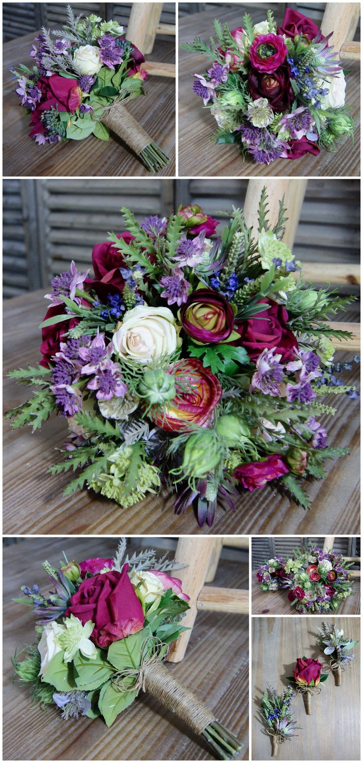 Vibrant, Wild Wedding Flowers for a Rustic Theme - Artificial Flowers