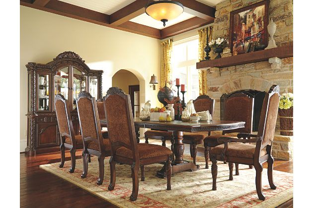 North Shore Rectangular Dining Table With Upholstered Chairs And