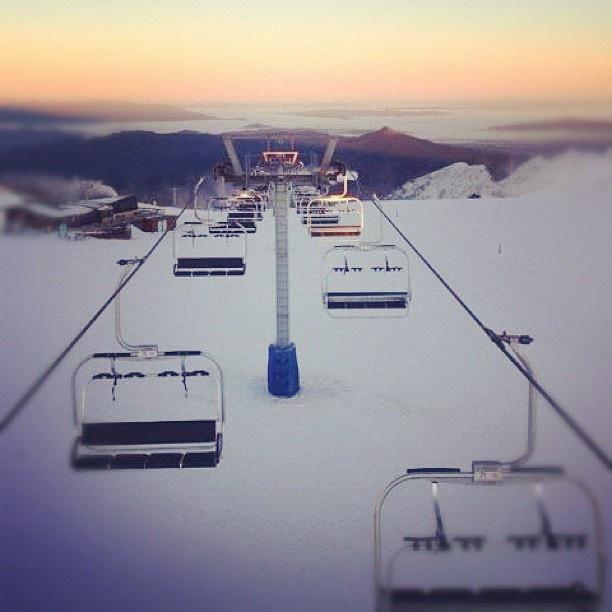 Photo by elsie_mccormack  #snow #mtbuller #howqua #chairlift