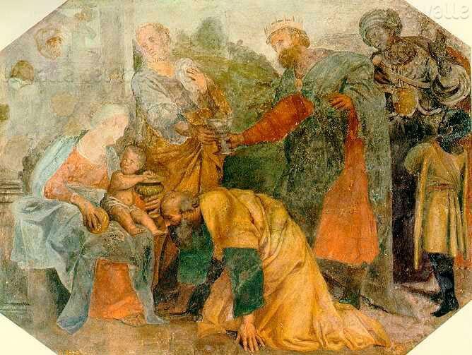 1719. Adorazione dei Magi.  Cappella Nolfi nel Duomo di Fano