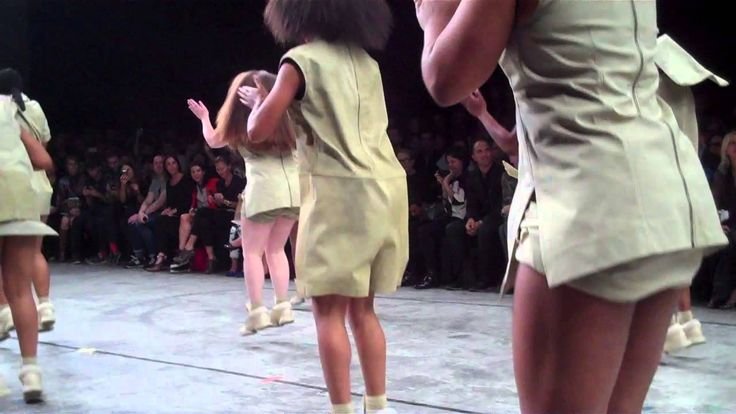 don't know what it is, but i love the music to this choreographed, step-dance, fashion runway show thing.