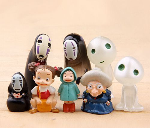 8 Toys Yeards : Mixed no face kodama tree spirit spirited away totoro