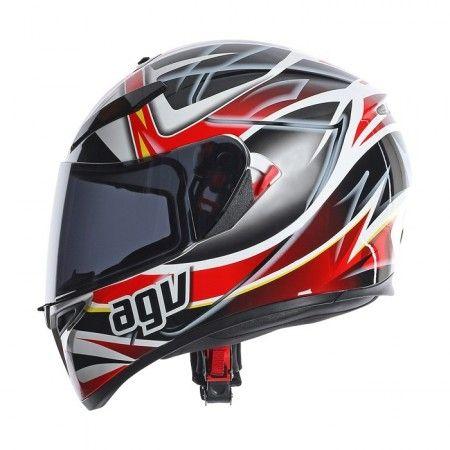 Casque Agv K3 SV Rav Noir Blanc Rouge