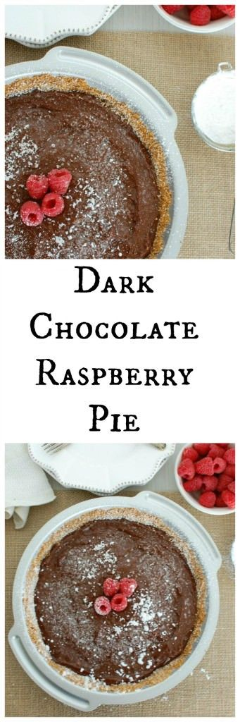 Raspberry Chocolate Pie That's Actually Good For You Recipe ...