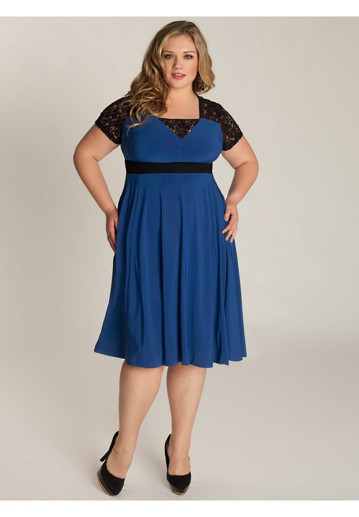 Chantelle Dress In Moroccan Blue  Fat Girl Fashion -5384