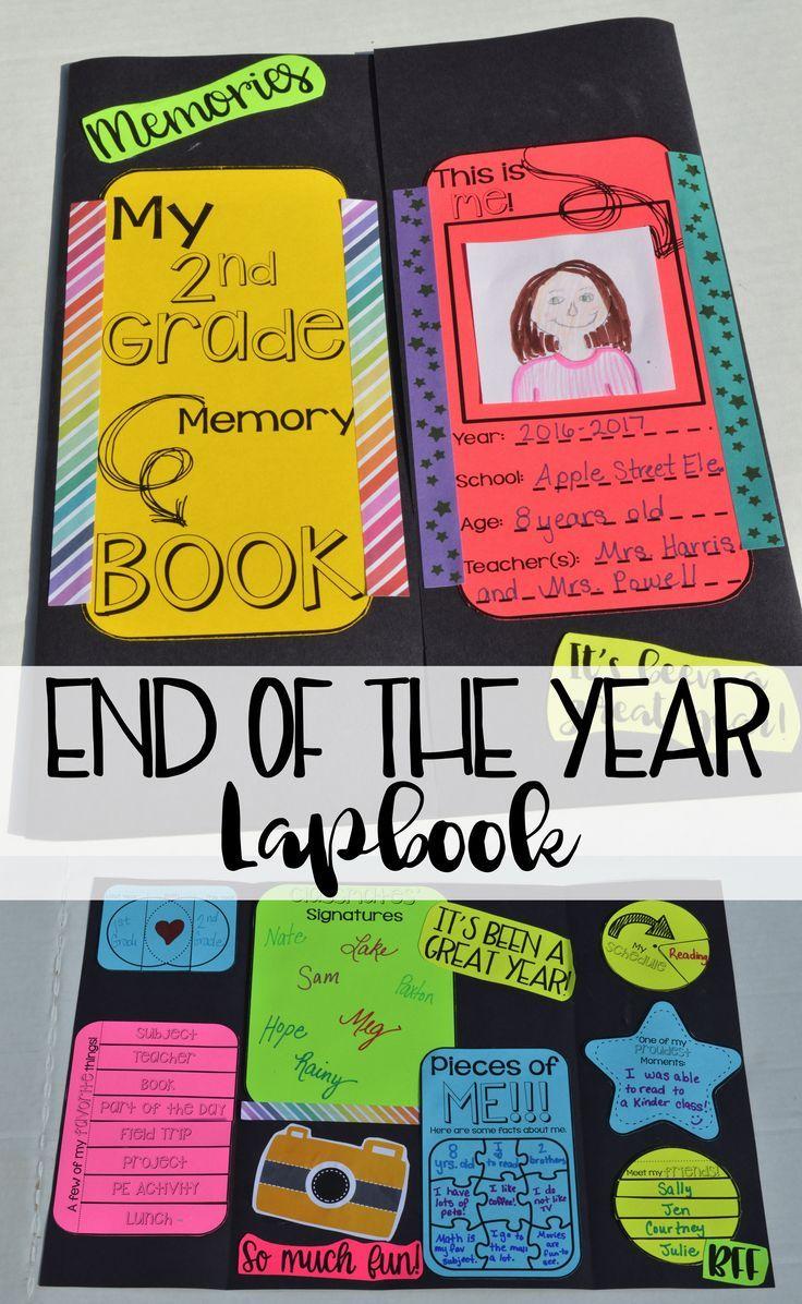 end of the year - end of the year lapbook - end of the year activity - end of the year memory book - end of the year activities