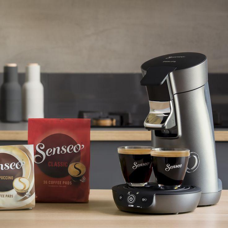 Black is beautiful! Ton-in-Ton fügt sich die Viva Café Style in jede Küche ein. Mit inbegriffen, Direkt-Start-Funktion und Brühstopp sowie die automatische Endabstellung nach 30 Minuten.