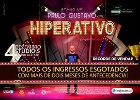 Em dezembro de 2014 tivemos a oportunidade de trabalhar no maior evento de Teatro do ano em Manaus, o Espetáculo HIPERATIVO, com PAULO GUSTAVO. Foram mais de 5.000 pessoas em uma só noite, um recorde de público.