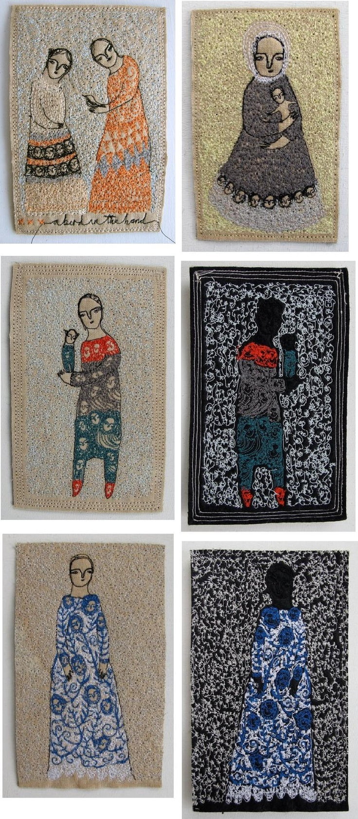 Cathy Cullis and her amazing painting with her sewing machine. Even the backs look interesting . . . machine embroidery