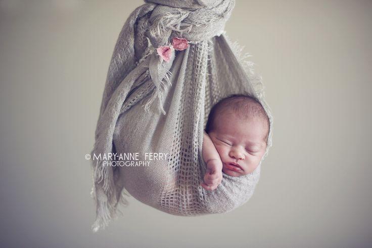 Newborn photography - newborn sling shot  www.maryanneferry.com