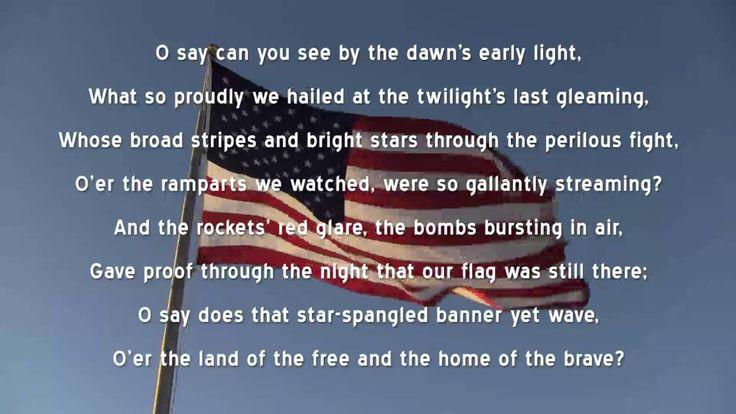 Star Spangled Banner (U.S. National Anthem) + Lyrics - YouTube
