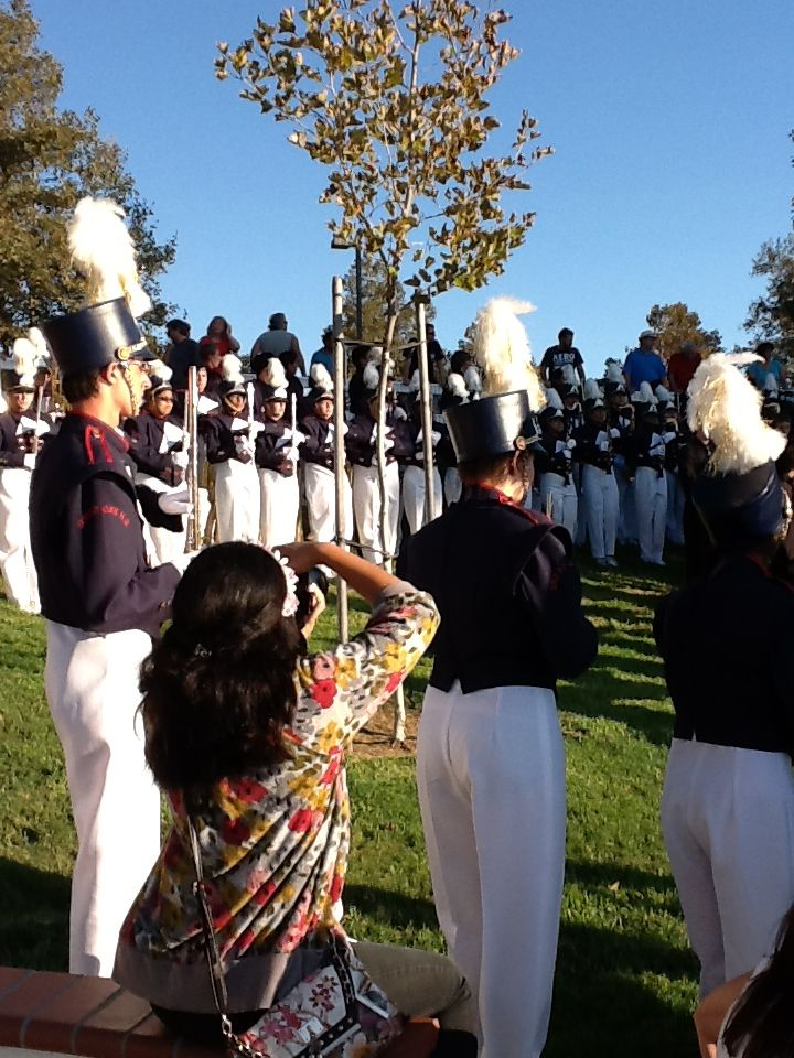 High Schoolband plays at the 9/11 ceremony