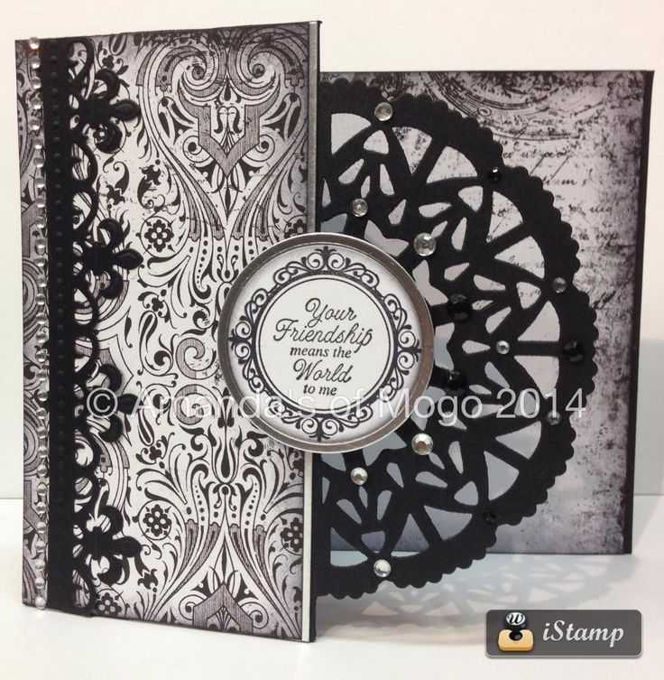 #AmandasofMogo #Black&White #CoutureCreations #MoulinRouge #HandmadeCard