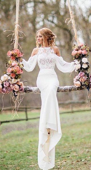 4cd736bc3f 40+ Beste weg von der Schulter Brautkleider | Styling | Wedding ...