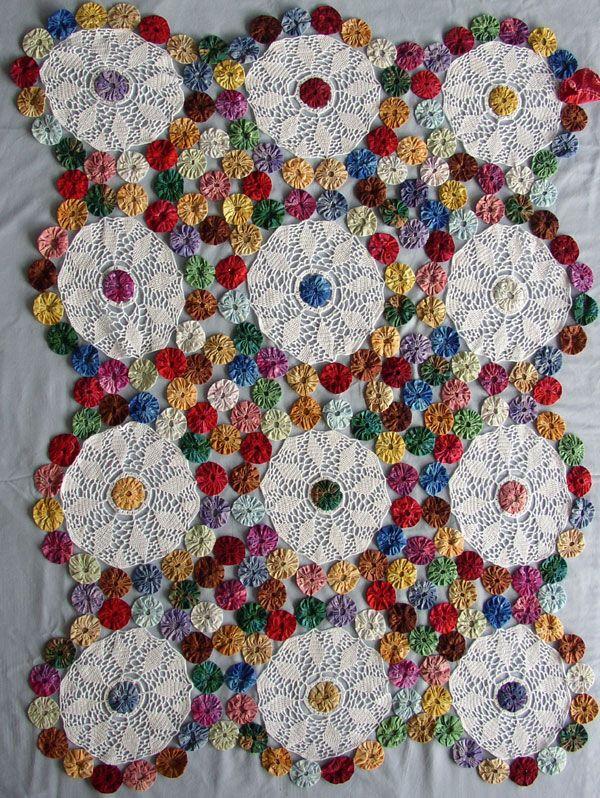 ★★★ Colcha de Fuxico Colorida - / ★★★ Bedspread of Fuxico Colorful -