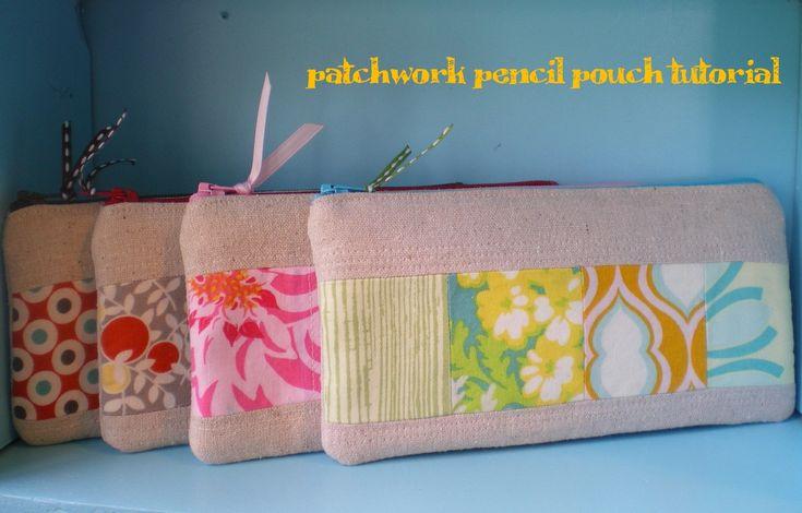 Patchwork pencil pouch tutorial