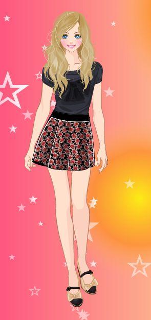 Online dress-up games - Pretty skirt