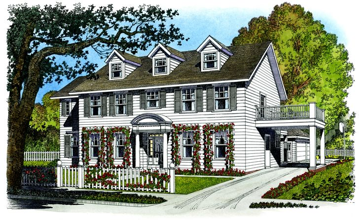 Plan 43010pf Father Of The Bride Colonial Pantry And Father
