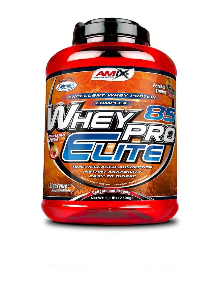 WheyPro Elite 85 - protein vyznačující se delikátní a krémovou chutí a ideálním aminokyselinovým spektrem. Vyvážená směs proteinů zaručuje pozvolné vstřebávání po dobu až několika hodin. Díky tomu je vhodný i pro suplementaci ve večerních hodinách. Obsahuje veškeré esenciální a neesenciální aminokyseliny s velkým množstvím aminokyselin BCAA (L-Leucin, L-Valin, L-Isoleucin).