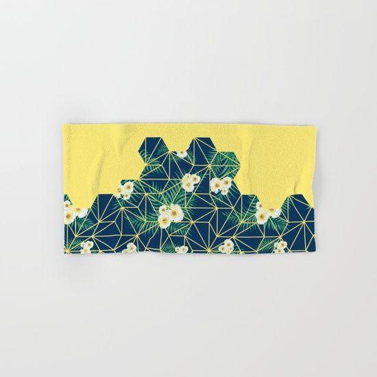 Tropical Tiles #society6 #decor #buyart Hand & Bath Towel