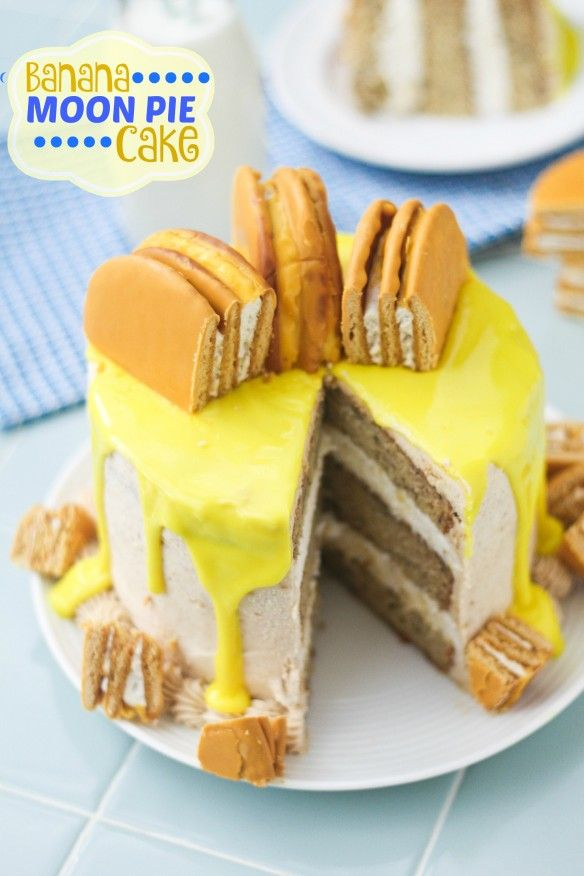 Banana Moon Pie Layer Cake | Confessions of a Cookbook Queen