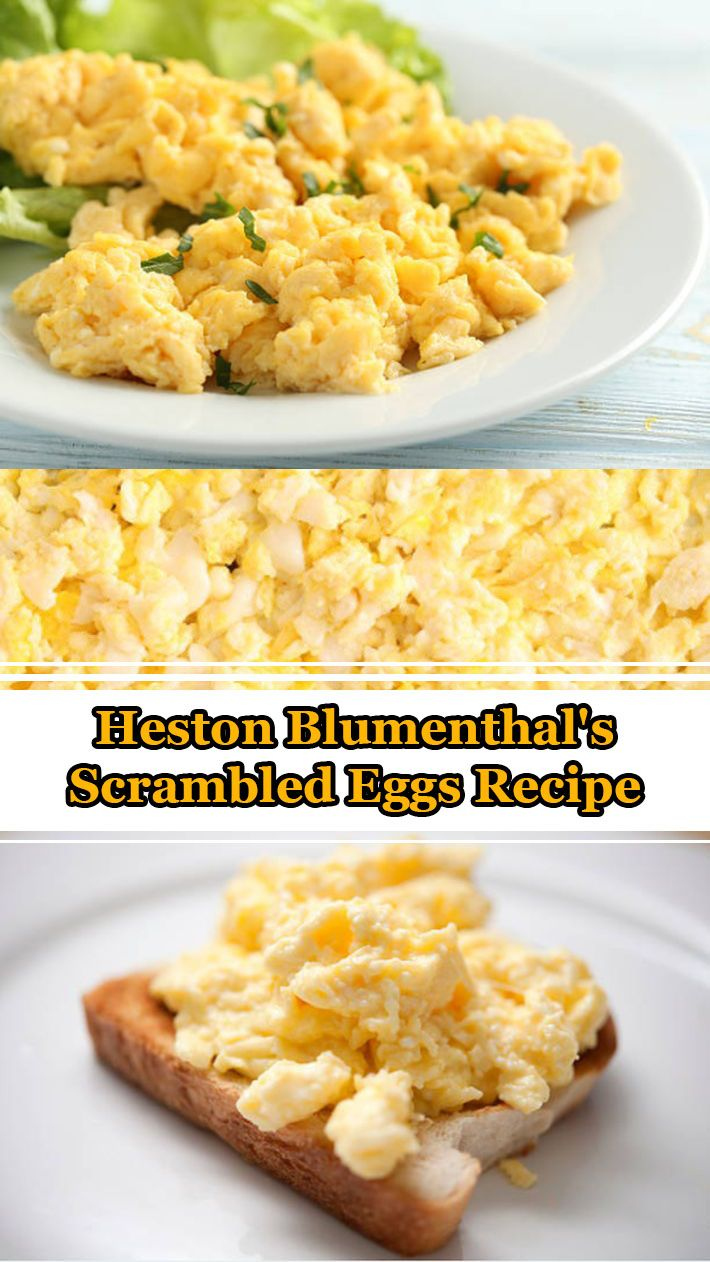 Heston Blumenthal's Scrambled Eggs Recipe To get the creamiest scrambled eggs, you need to cook them gently. Using a bain marie ( a heatproof bowl resting on top of a saucepan of simmering water ) guarantees a gentle but consistent heat that is just right. #heston #blumenthal #scrambled #eggs #recipe