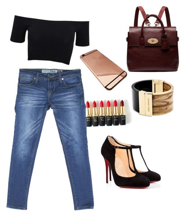 """""""Sexy on Turquoise Q Series Denim"""" by turquoisedenim on Polyvore featuring American Apparel, Christian Louboutin, Mulberry, Michael Kors, L'Oréal Paris, women's clothing, women, female, woman and misses"""