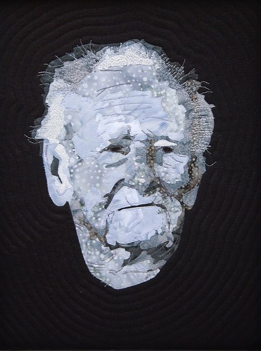 Portrait of my grandfather. Made for my father's 81st birthday. In the style of a Greek bust. 2016. Mary Jane Sneyd