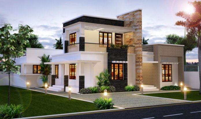 Sizes Are Deceiving Fantastic Ideas These Model Plans Of Two Story Small Home With Three Bedrooms Are Flat Roof House Modern House Plans Kerala House Design