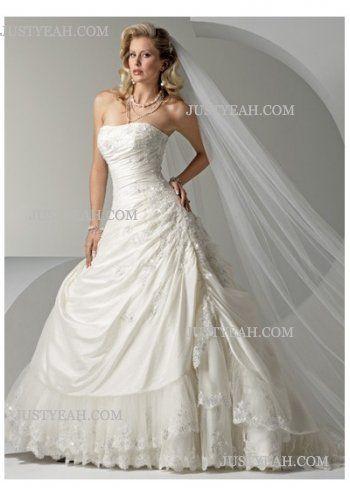 Luxury Strapless Wedding Dresses 2016