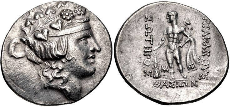 Thasos overstruck on uncertain. Tetradrachm, 32 mm, 16.90 g, 12 h. Prokopov 2006, Group X, 481.1 (V Ka29/ R 402/1 – this coin). Ex CNG 55 (13 September 2000), no. 303 = CNG e-sale  349 (22 April 2015), no. 26.