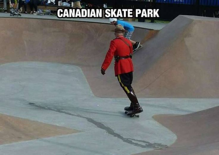 Mounties can skate too.