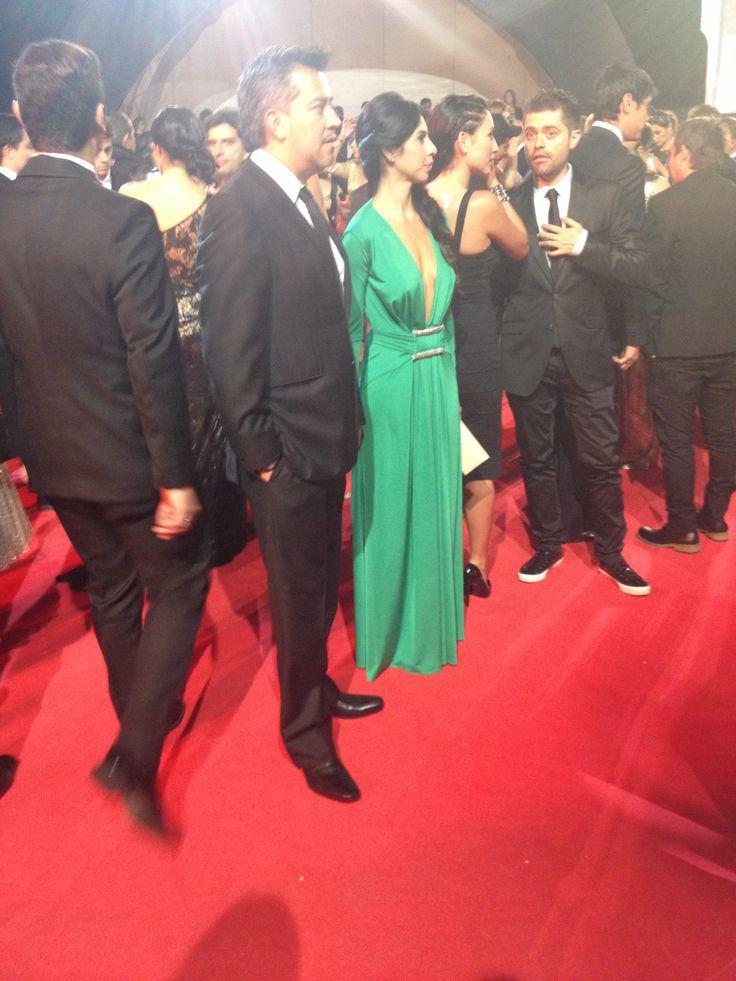 Noche de gala Premios TV y Novelas - Andrea Gómez y su esposo