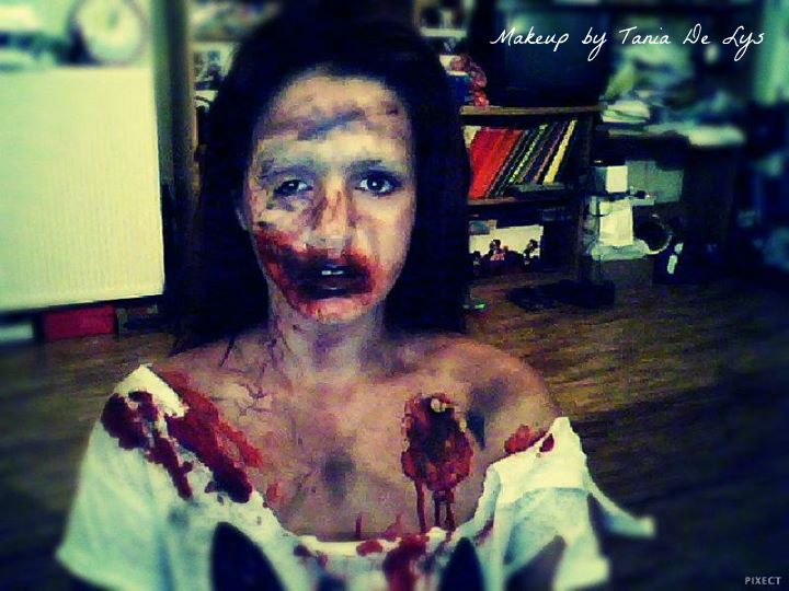 Zombie makeup perfect for halloween